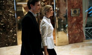 Ivanka Trump with her husband Jared Kushner at Trump Tower on 18 November.