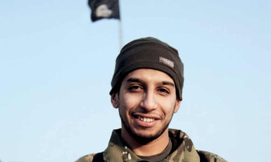 Abdelhamid Abaaoud as he appeared in the Islamic State's magazine Dabiq.