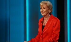 Energy Minister Andrea Leadsom during the ITV Referendum Debate.