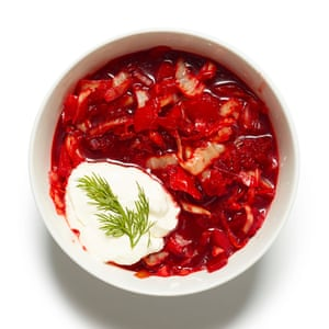 Pretty in pink: Felicity Cloake's borscht.