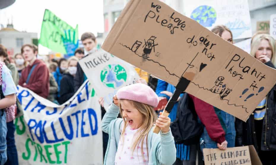 A protest in Brighton in April