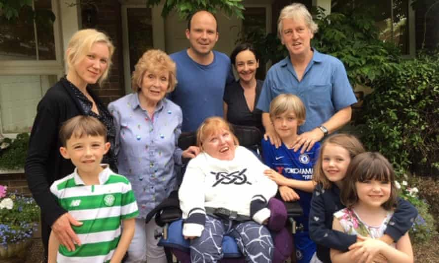 Karina and Rory Kinnear (centre), and their families.