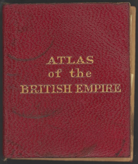 A miniaturised Atlas of the British Empire, made for Queen Mary's dollhouse.