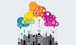 internet of things smart city illustration