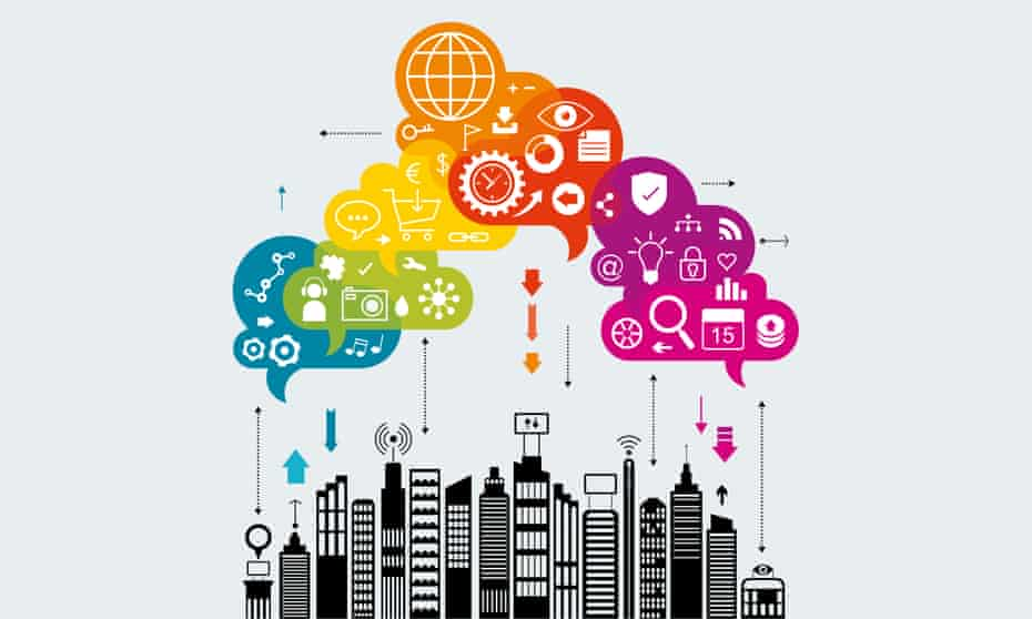 internet of things smart city illustration