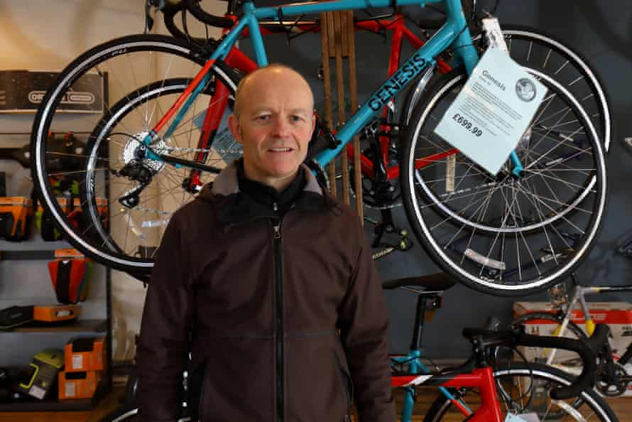Andy Shrimpton in Cycle Heaven.