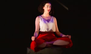 Trapped atop a stone plinth … Breffni Holahan as Essie in Collapsible.