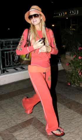 Paris Hilton in Juicy Couture.