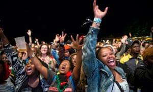 Crowds enjoying a performance at Bushfire festival 2019 in Eswatini