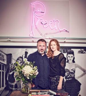 Design duo: Justin Thornton and Thea Bregazzi in their London studio.