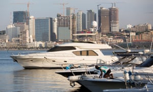 Yachts in the harbour of Luanda, Angola's costly capital.