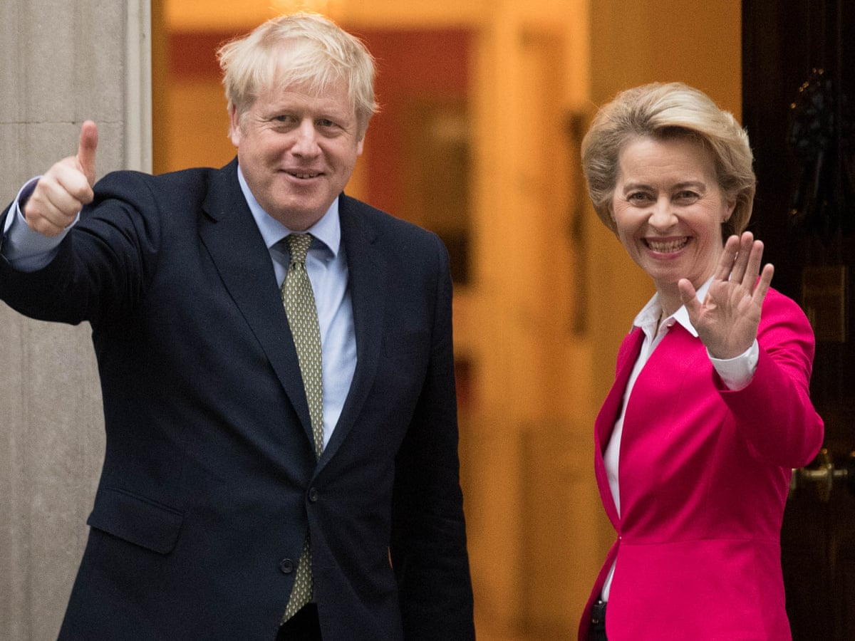 Boris Johnson and Ursula von der Leyen have 'positive' meeting | Brexit | The Guardian