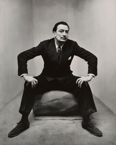 Irving Penn's portrait of Salvador Dali.
