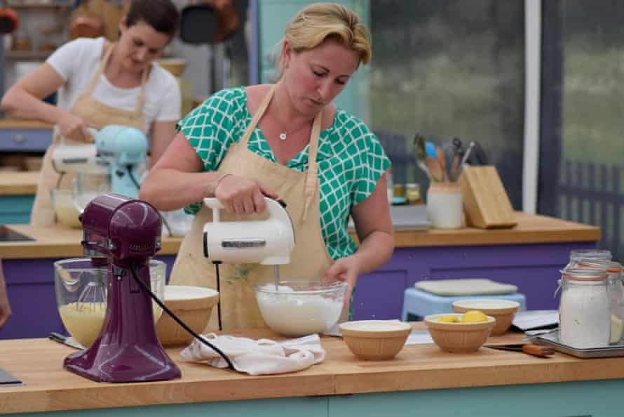 Stacey feels the heat in the Bake Off tent.