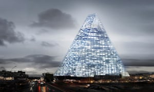 Computer image of the proposed Triangle Tower project in Paris.