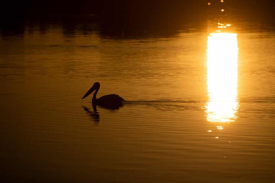 Sunset at Copi Hollow near Menindee.