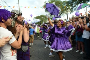 New Orleans, US: Fans celebrate the life of Prince