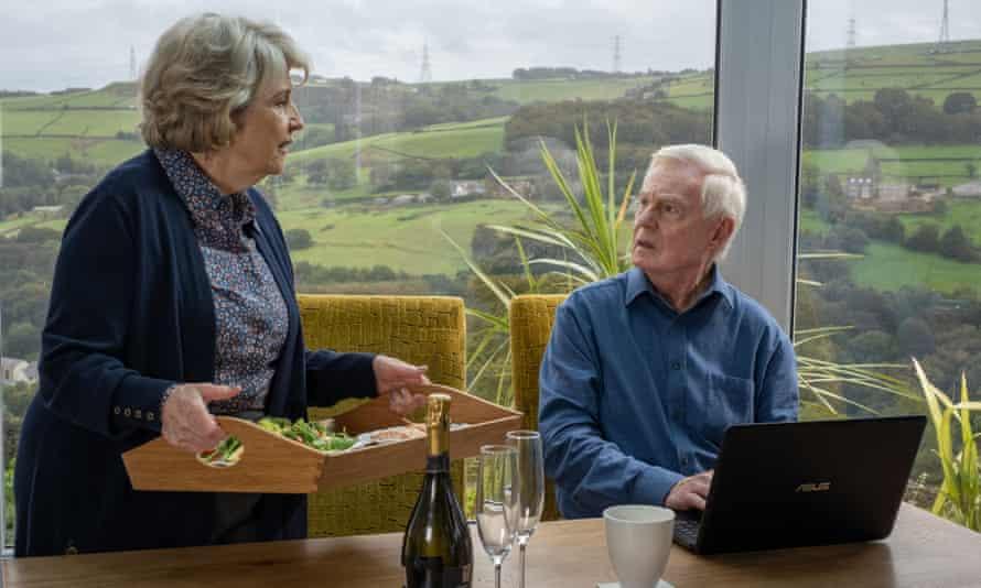 Anne Reid as Celia and Derek Jacobi as Alan in Sally Wainwright's Last Tango in Halifax.