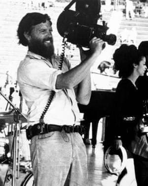 Out of film again … DA Pennebaker in action.