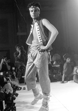 Modelling at Vivienne Westwood World's End fashion show Pirates, AW 1981-82
