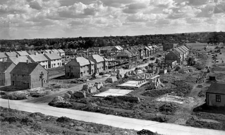 A council estate under construction in 1947.