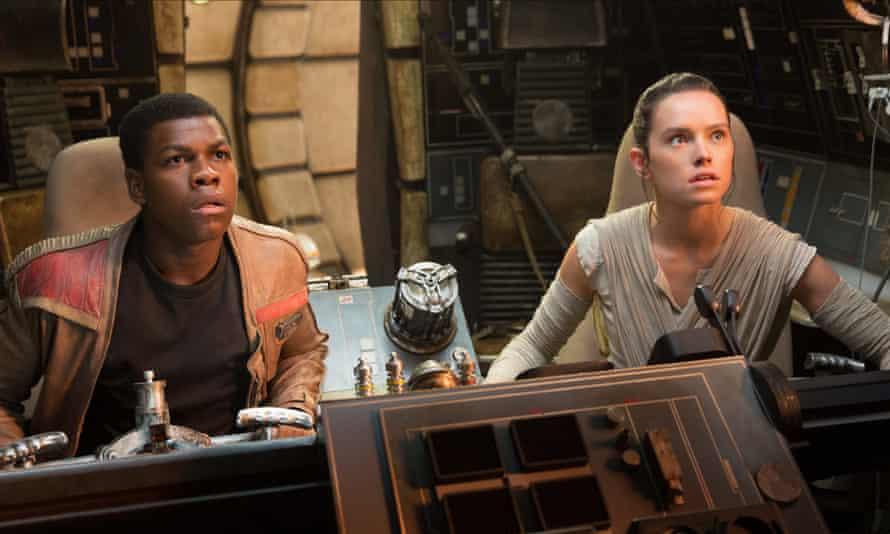 John Boyega and Daisy Ridley in Star Wars: The Last Jedi.
