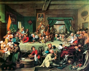 An Election Entertainment: William Hogarth's scene of treats and upsets during the general election of 1754.