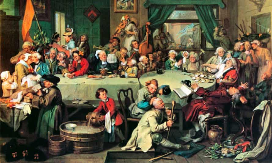 An Election Entertainment, 1754, part of the series The Humours of an Election by William Hogarth.