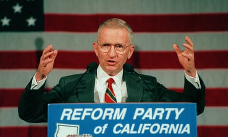 Perot in 1996. He established his Reform party in the previous year.