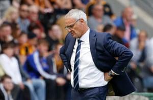 Claudio Ranieri cuts a frustrated figure.