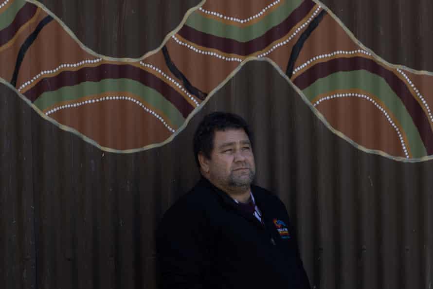 Brendon Adams, a communtiy leader at Wilcannia River Radio in Wilcannia, NSW.