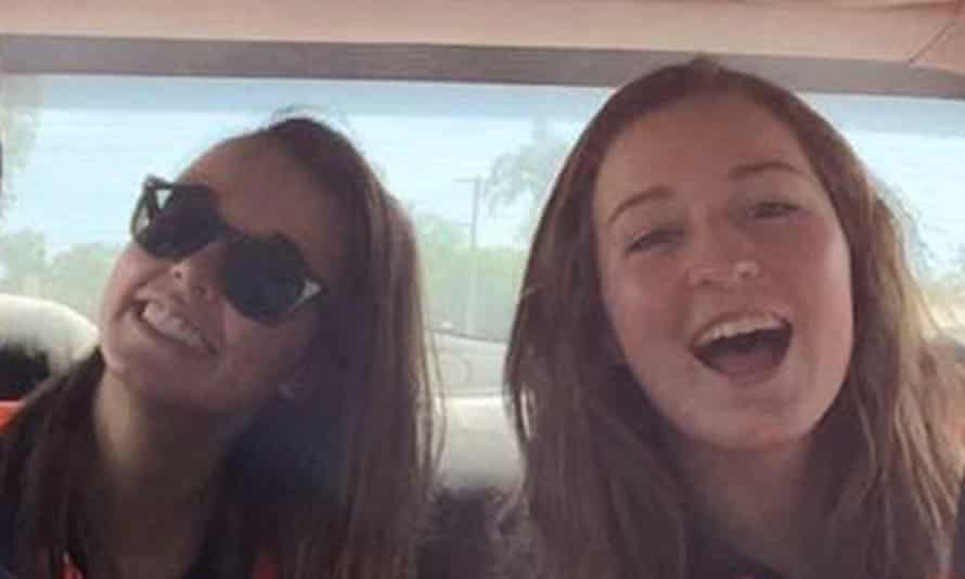 UK backpackers Kath Stoner (left) and her friend Elle Kerridge