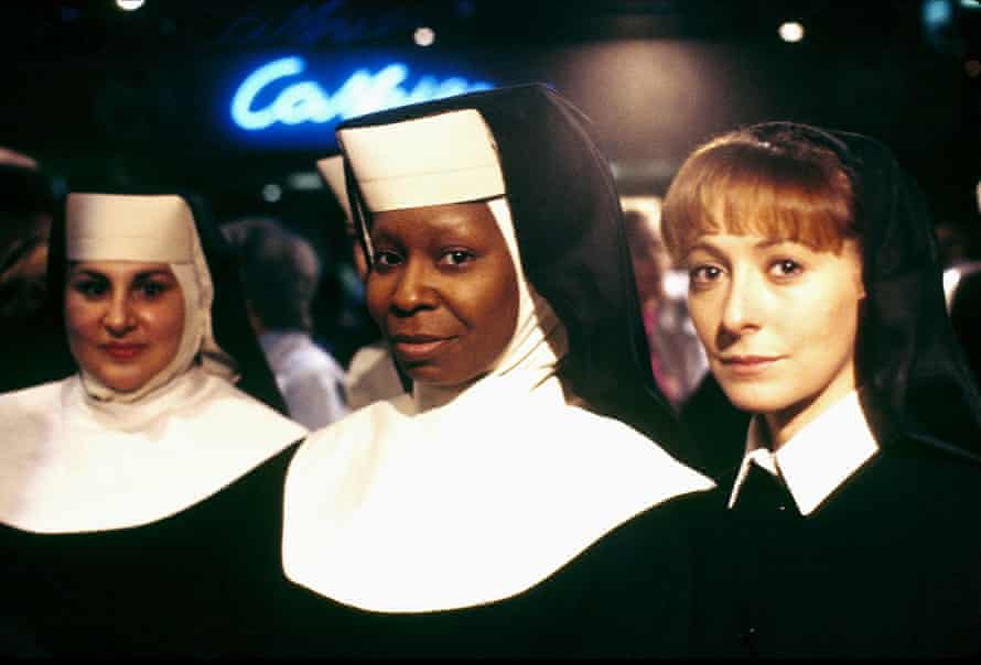 Kathy Najimy, Whoopi Goldberg and Wendy Makkena in Sister Act.