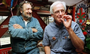 In a 1996 photo Dennis Peron, leader of the campaign for Proposition 215 and founder of the Cannabis Buyers Club, smokes a marijuana cigarette.