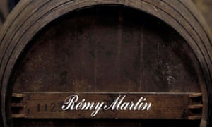 Oak barrels storing rare and old cognac at the Remy Martin factory in Cognac, southwestern France