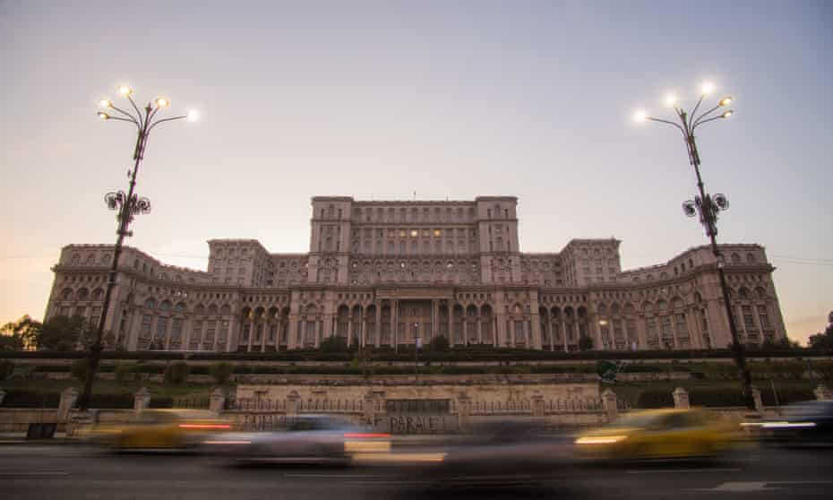 The Romanian parliament building, in Bucharest.