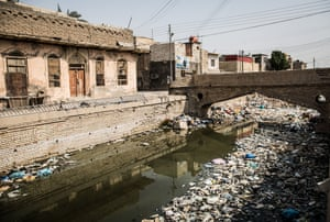 A polluted canal in Basra's old city