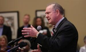 Judge Roy Moore speaks in Alabama.