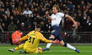Harry Kane missed his best chance of the night when Ederson came out to deny the England captain in the first half at Wembley.