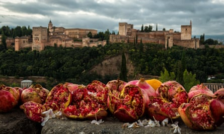 Alhambra and pomegranates