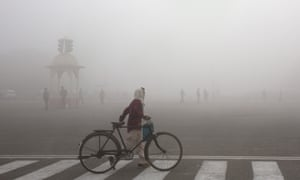 Morning smog in the Indian capital, New Delhi.