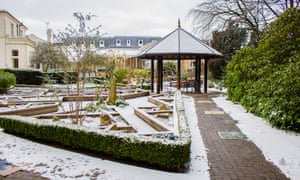 A snowy day in February 2019 at St Gemma's hospice in Leeds