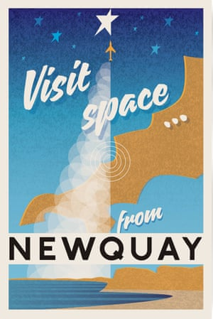 Newquay space poster