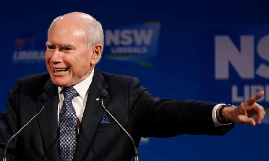 The former Australian prime minister John Howard. After Mark Latham lost the election to Howard, Bill Shorten worried that Labor was moving too far towards the progressive left, leaving Howard to pick off some of its support in the centre
