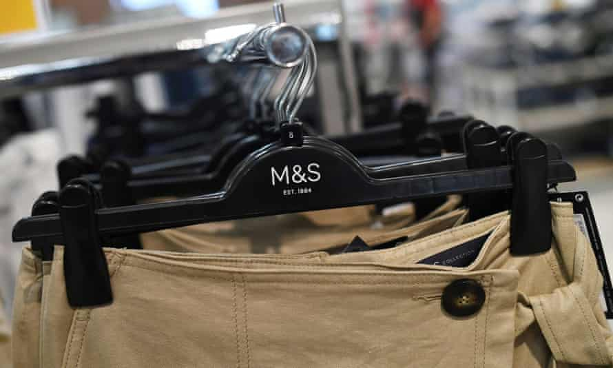 Clothes in a Marks & Spencer store