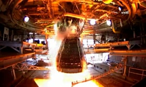 "A test of Nasa's RS-25 engine at the Stennis Space Center in Mississippi. Currently only ""very, very small engines"" can be tested in the UK."