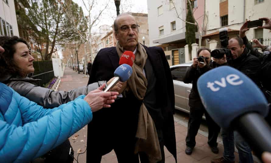 Francisco Franco Martinez-Bordiu at a court in Teruel, Spain on 22 January 2018.