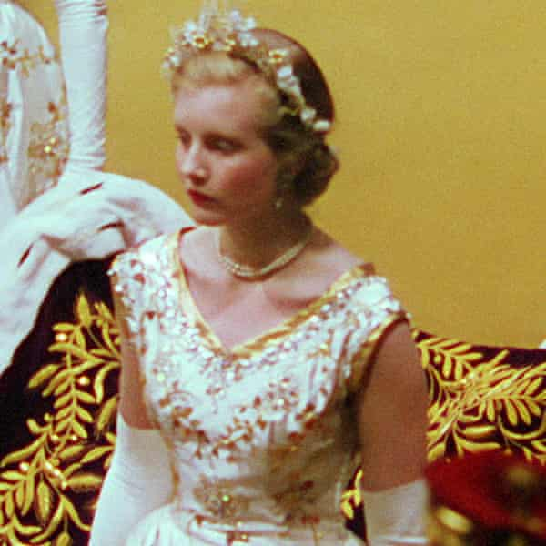 Glenconner, then Lady Anne Coke, at the Queen's coronation.