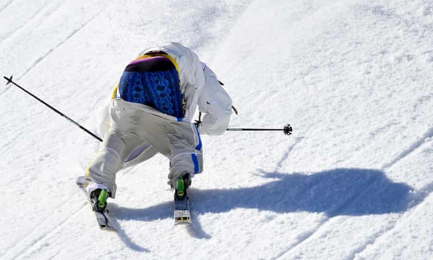 Sweden's Henrik Harlaut, and his pants, compete in Sochi.