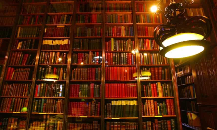 Spotlight on scholarship ... books at at John Rylands University library in Manchester.